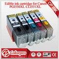 5PK (BK/PBK/C/M/Y) PGI550 CLI551 картридж со съедобными чернилами для принтера Canon PIXMA MG5450/MG6350/IP7250/MX925 для Canon PGI 550XL