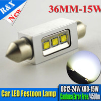 12pcs 31mm 36mm 39mm 41mm XBD 15W White Dome Festoon CANBUS No Error Car LED Light