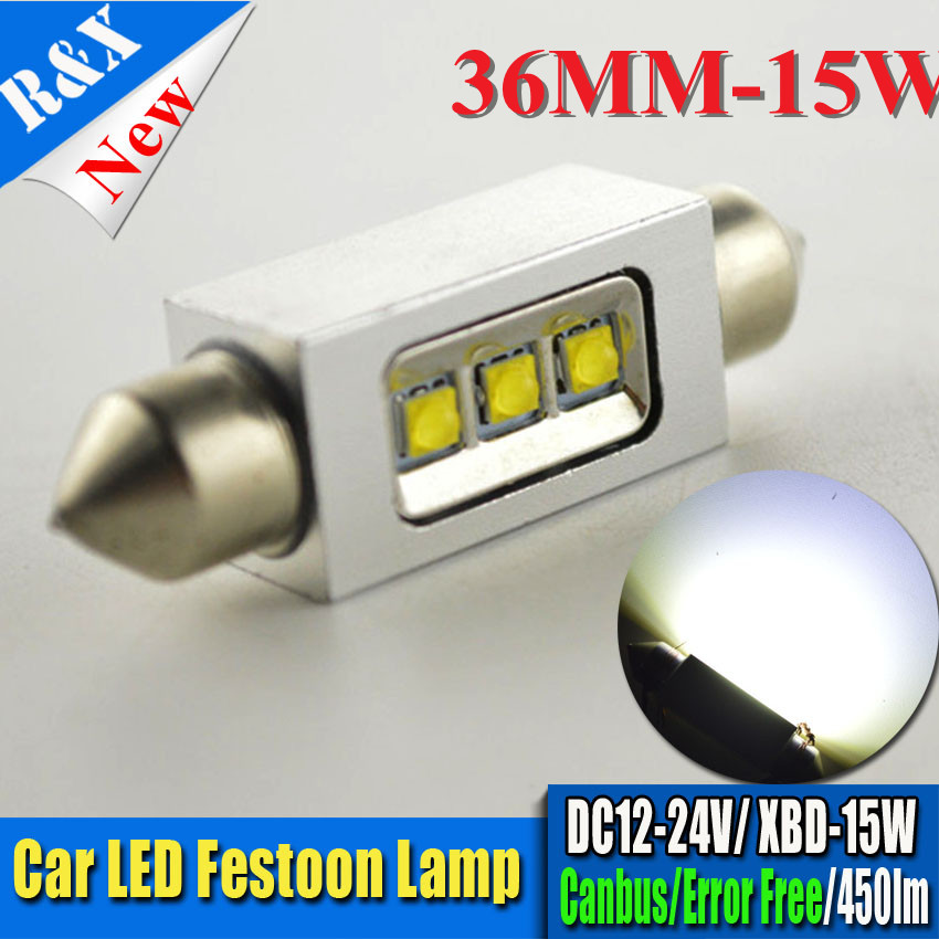 2pcs 31mm 36mm 39mm 41mm XBD 15W White Dome Festoon CANBUS No Error Car LED Light c5w led Lamp auto Bulb 12V led interior light 2pcs festoon led 36mm 39mm 41mm canbus auto led lamp 12v festoon dome light led car dome reading lights c5w led canbus 36mm 39mm