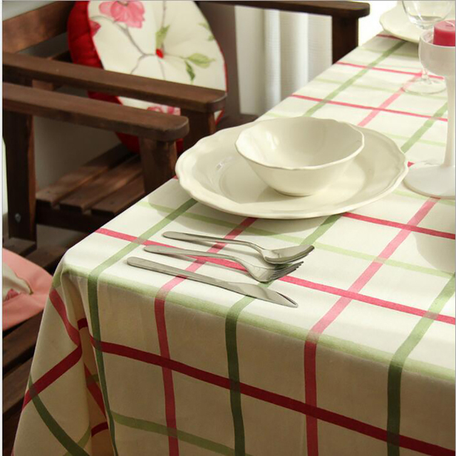 Ordinaire New Japan Korea Style 100% Cotton Table Cloth / Pink Purple Blue Green Four  Colors