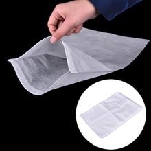4 Pcs Reusable Nylon Mesh Strain Tea Pulp Juice Jelly Food Nut Milk Filter Screen Net Percolator Bag Cloth Bags White 23*30cm