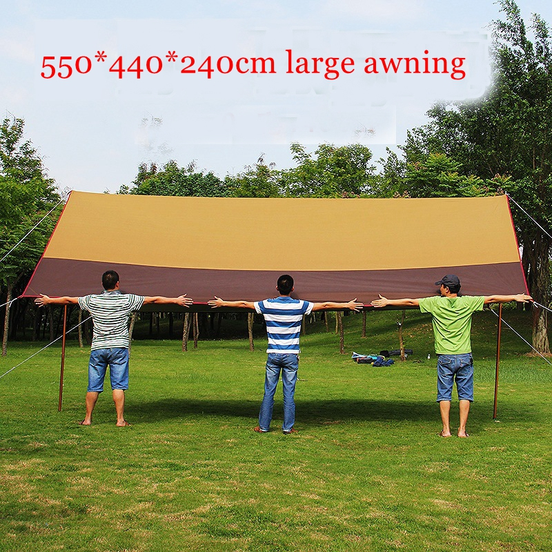 Landwolf Canopy tent outdoor awning large anti-UV advertising tent self-driving sunshade awning with waterproof silver coated 5m 8mlarge outdoor tent canopy silicon coated light high waterproof fabric multi person tarpaulin rainproof sunscreen awning