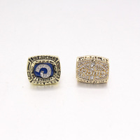 Free Shipping 2pcs 1979 1999 St Louis Rams Football Super Bowl Replica Championship Rings Sets With