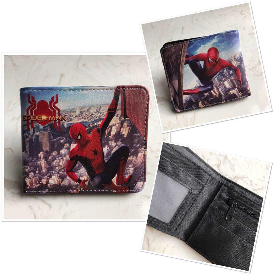 Мстители Бумажник Мультфильм комиксов Марвел Капитан Железный человек танос бумажник для мужчин карты id держатели карман для монет