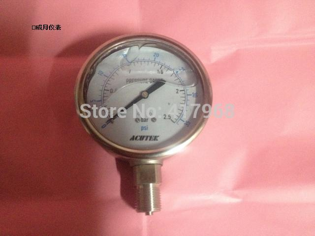 ACUTEK  Anti-corruption Stainless steel pressure gauge Original export Y100BF 1000bar G1 / 2 Material 316  цены