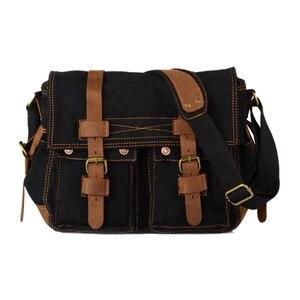 Image 5 - TEXU Men messenger bags canvas leather big shoulder bag famous designer brands high quality mens travel bags high quality