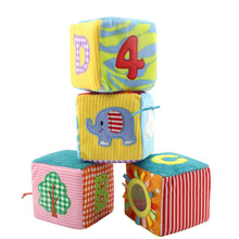 Classic Plush Rattles Building Blocks Cloth Cognitive Toys Early Childhood Popular Educational for Baby Toddlers