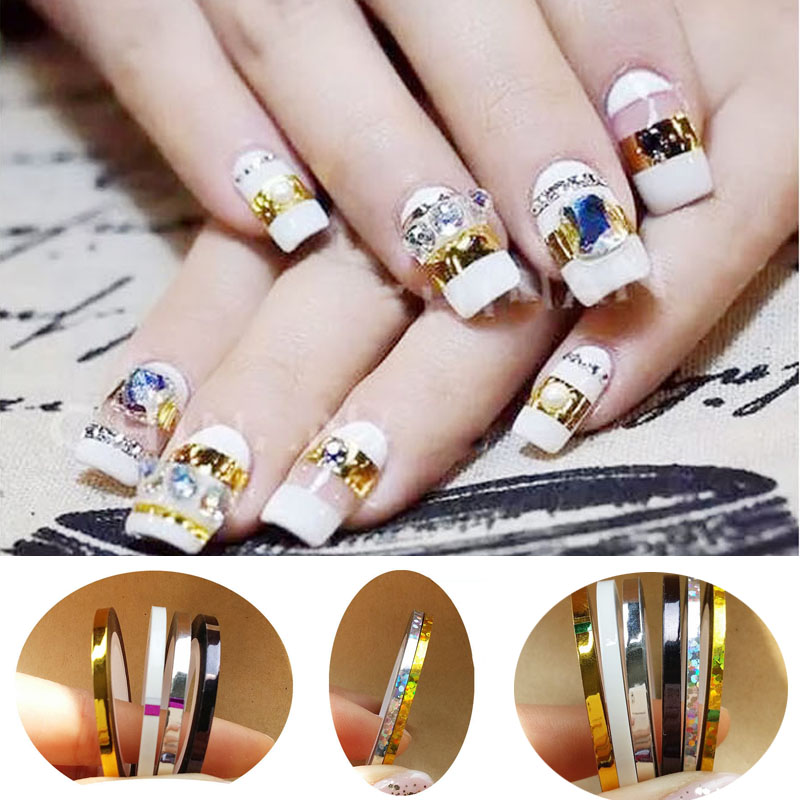 Top Nail 8 Rolls/Lot 2mm &...
