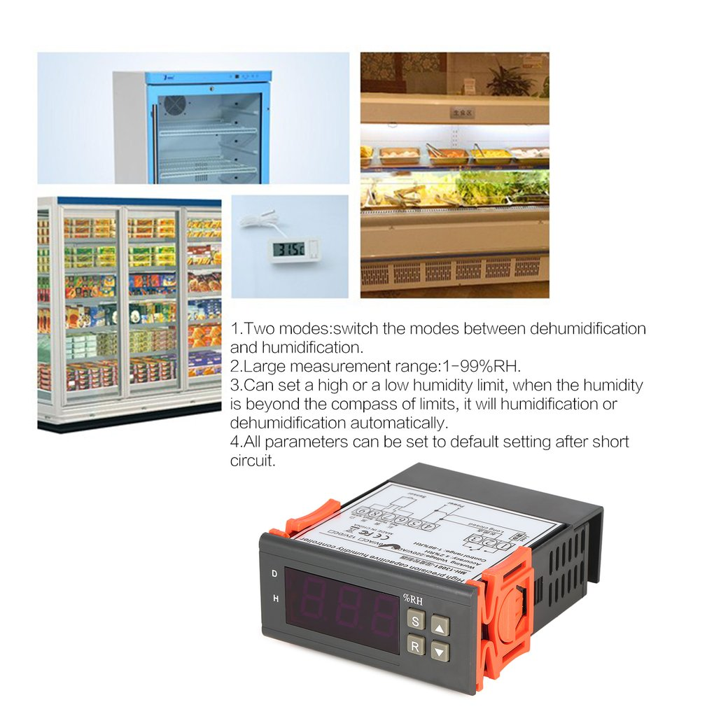 Measurement & Analysis Instruments Honest Mtc1000a Dc 12v Digital Led Microcomputer Humidity Controllers Hygrometer Dehumidify Switch Relay Hygrostat 0-99%rh Control Temperature Instruments