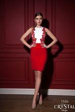 Vestidos Cocktailkleider 2015 Short White & Red Appliques Mantel Party Kleider Plus Größe Vestido Cocktail curto CPCD19