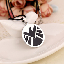 Agents of S.H.I.E.L.D. necklace shield badge pendant Marvel The Avengers logo sign movie jewelry for men and women wholesale