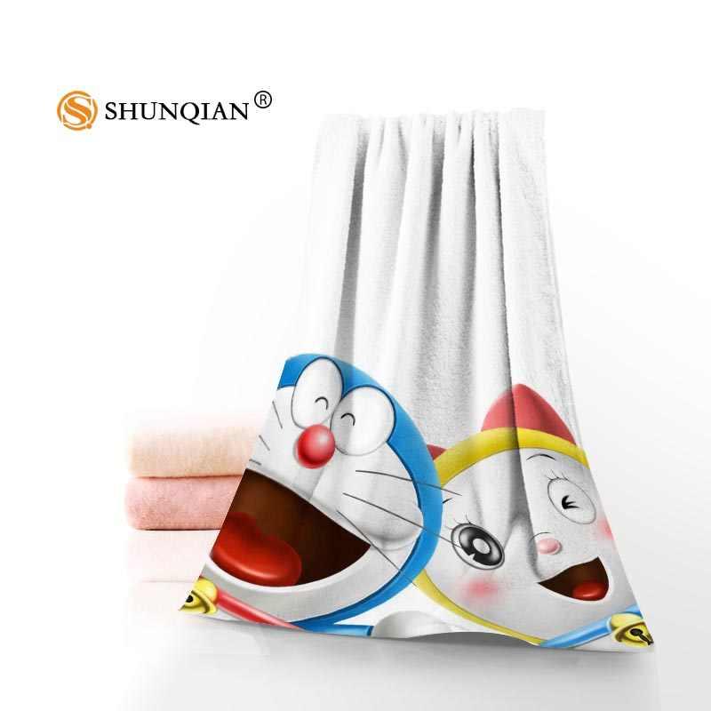 Mới Tùy Chỉnh Doraemon Khăn Cotton In Hình Mặt/Khăn Tắm Chất Liệu Vải Sợi Nhỏ Dành Cho Trẻ Em Nam Nữ Tắm Khăn