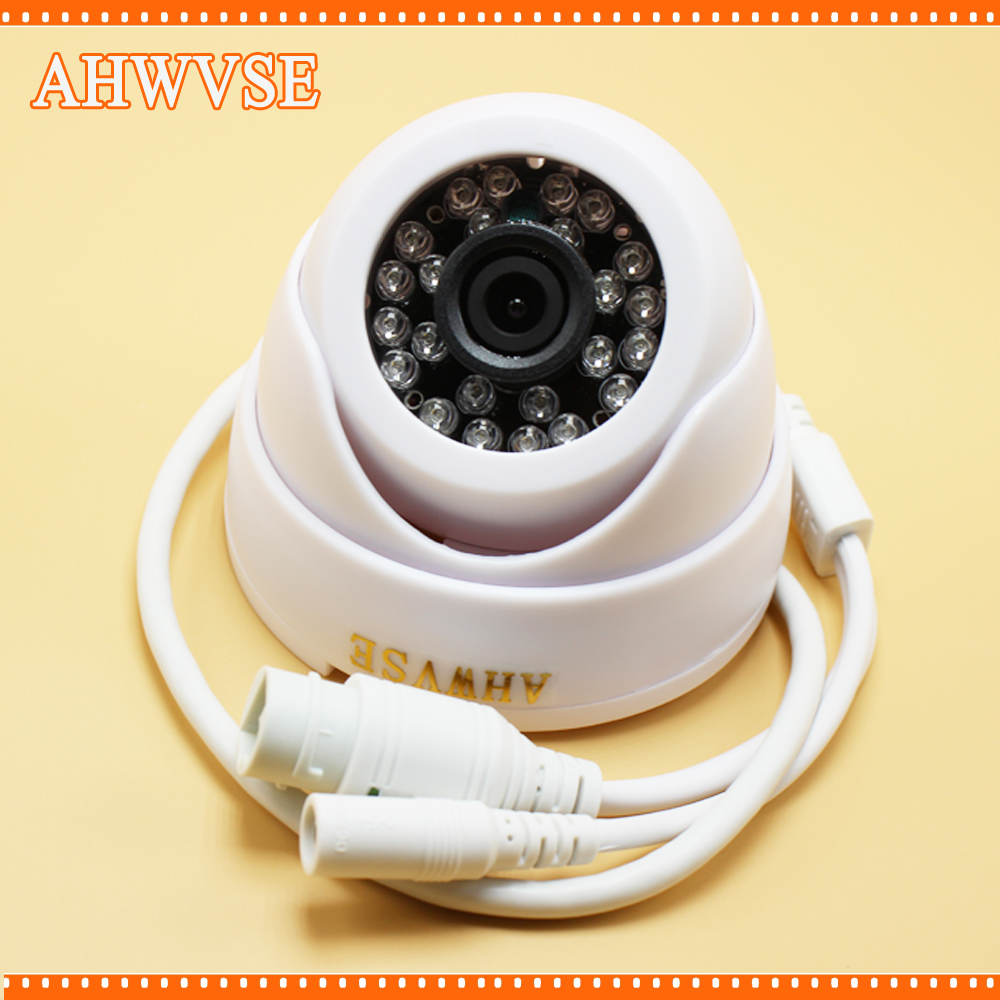 4pcs/lot AHWVSE Wired IR Dome IP Camera Indoor 720P HD CCTV Security Video Network Surveillance IP Camera 2MP 4pcs lot 960p indoor night version ir dome camera 4 in1 camera 3 6mm lens p2p onvif abs plastic housing