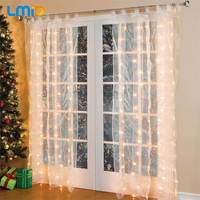 Holiday Lighting 3M 3M 300LEDs LED Home Party Christmas Wedding Decorative Curtain Lights 8 Modes Fairy