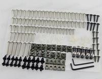 Chrome Windscreen Fairing Bolts Kit Fastener Clips Screws Motorcycle Sportbike parts for Honda Yamaha Suzuki Kawasaki