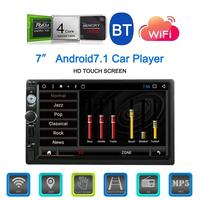 Touch Screen 7 Inch Android 7.1 Multimedia Bluetooth WIFI Car Navigator Radio MP5 Audio Player Reversing Camera Video RDS Map