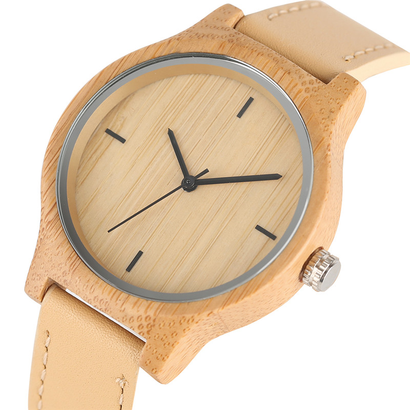 Women Watches 2019 Casual Hand-made Wooden Wristwatch Ladies Girl Real Leather Minimalist Woman's Clock Relogio Feminino Female