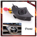 Venda quente CCD visão Ampla câmera Frontal para Toyota/RAV4/Corolla/Camry/Prado/Highlander/Land Cruiser/Avensis/Auris sistema de Estacionamento