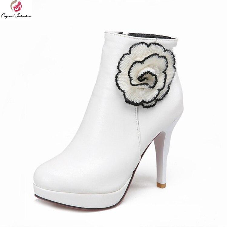 59c9a4731 القصد الأصلي أزياء المرأة شتاء جزمة مثير جولة تو منصة عالية الكعب الكاحل  أحذية السيدات حزب أحذية امرأة زائد حجم