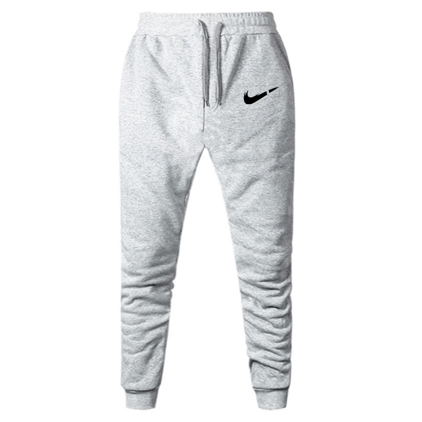 Male Trousers Sweatpants Jogger-Grey Elastic Fitness Workout Cotton Casual XXXL Brand