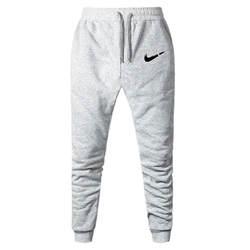 Новинка 2019 года для мужчин бегунов бренд мужской мотобрюки брюки, тренировочные брюки в повседневном стиле Jogger серый повседневное