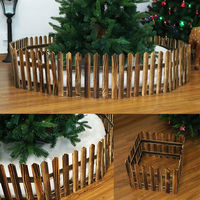 Christmas Tree Wooden Snow Fence Xmas Foldable Tree Skirt Stand Cover New Decor 30*160cm Christmas Scene Layout Window Props