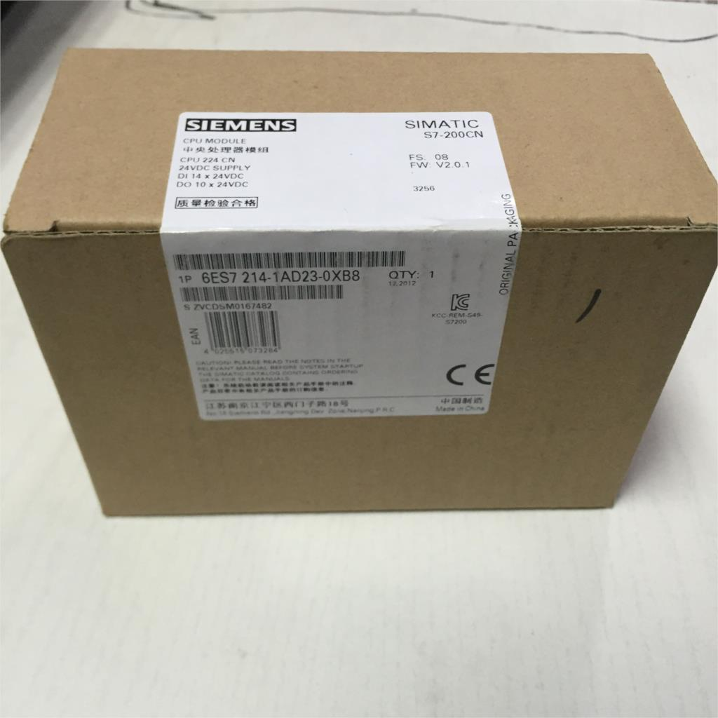Siemens SIMATIC S7-200CN 6ES7 214-1AD23-0XB8 = 6ES7 214-1AD23-0XB0 New in Box