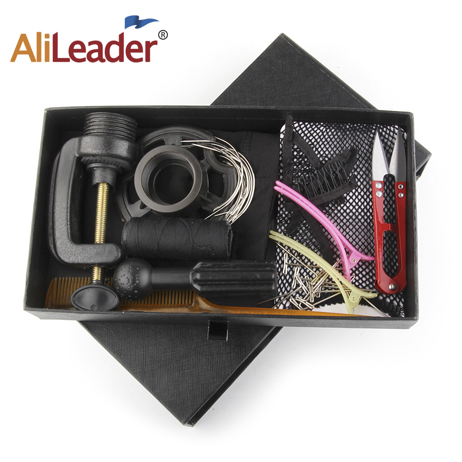Alileader Wig Accessories Set Kit For Making Wigs DIY Human Hair Wig Accessories Sets Wig Making Starter Kit Hair Net/T Pains