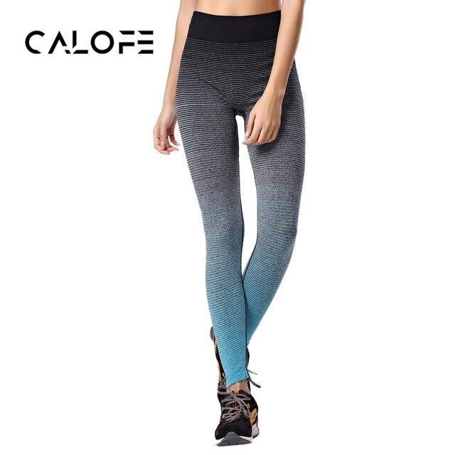 Calofe mujeres deporte leggins gimnasio Pantalones de yoga cintura ...