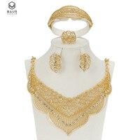 Последний оригинальный моды в Дубае Золотой Цвет Полный Кристалл Свадебные украшения, наборы итальянский комплект для вечеринок Интимные ...