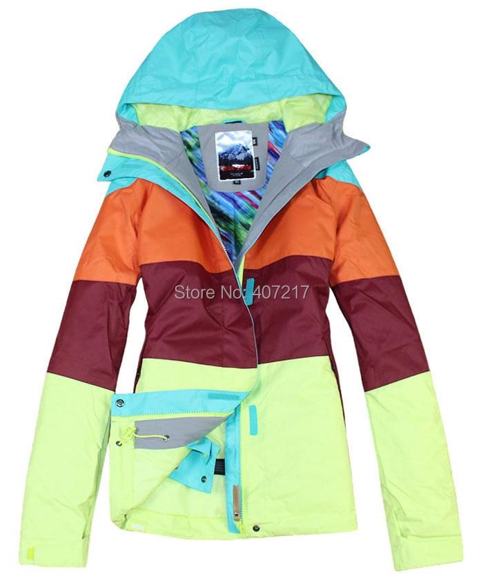 2014 womens ski jacket color matching snowboarding jacket ladies waterproof breathable purple green snow parka skiwear anorak 2016 women ski jacket color matching snowboarding jacket skiing jacket for women skiwear suit waterproof breathable