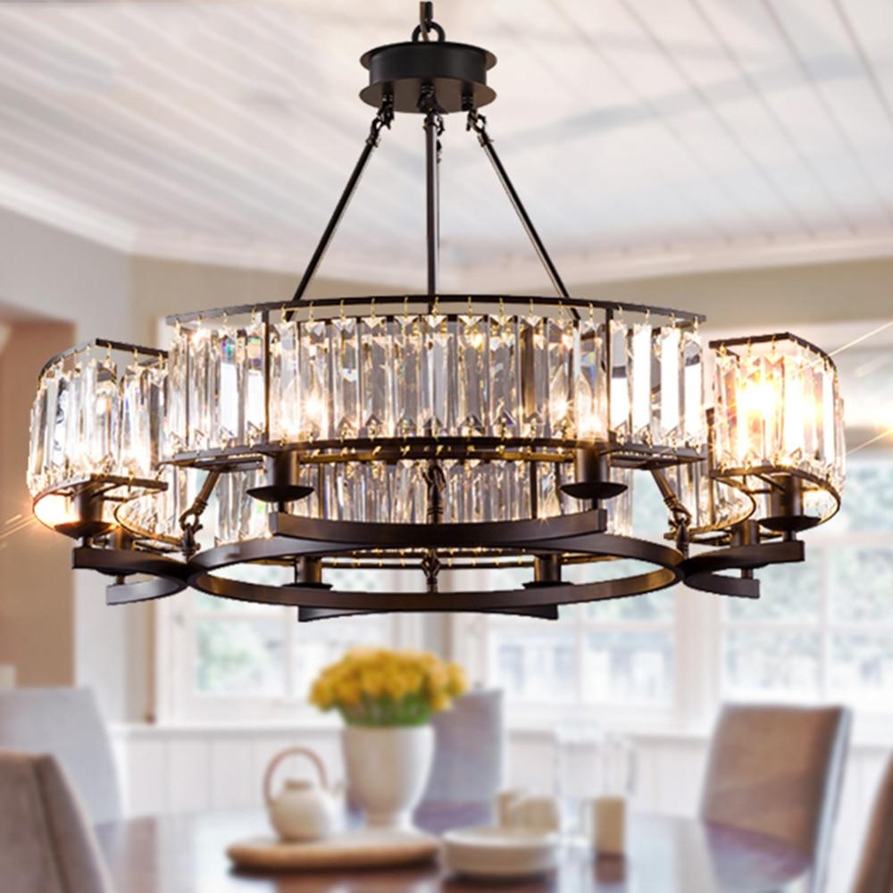 Luxury Contemporary Round Island Crystal Chandelier