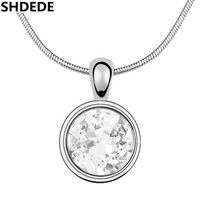 Classic Platinum Plated SWA ELEMENTS Austrian Crystal Pendant Necklaces FREE SHIPPING