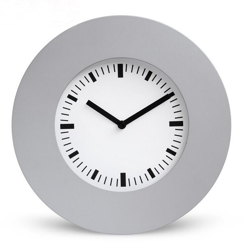 10 inch 25cm Brief Style Metal Wall Clock Quartz Watch Silent Non Ticking for Bedroom Office Kitchen Modern Home Decoration