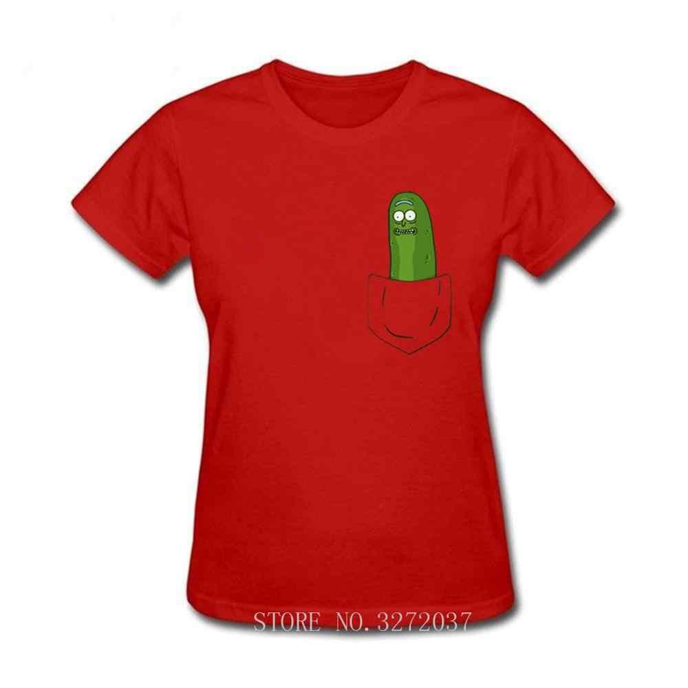 Pickle Rick mujeres camiseta bolsillo Ricka y Morty camiseta nueva Anime divertida camiseta 2019 verano camiseta Rick Morty Cool tops Tees