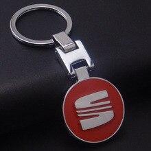 Car Keychain For Seat Keychain llaveros Car Metal Keyrings Seat Emblems Car Logo Key Chain Ring For Seat Leon Ibiza