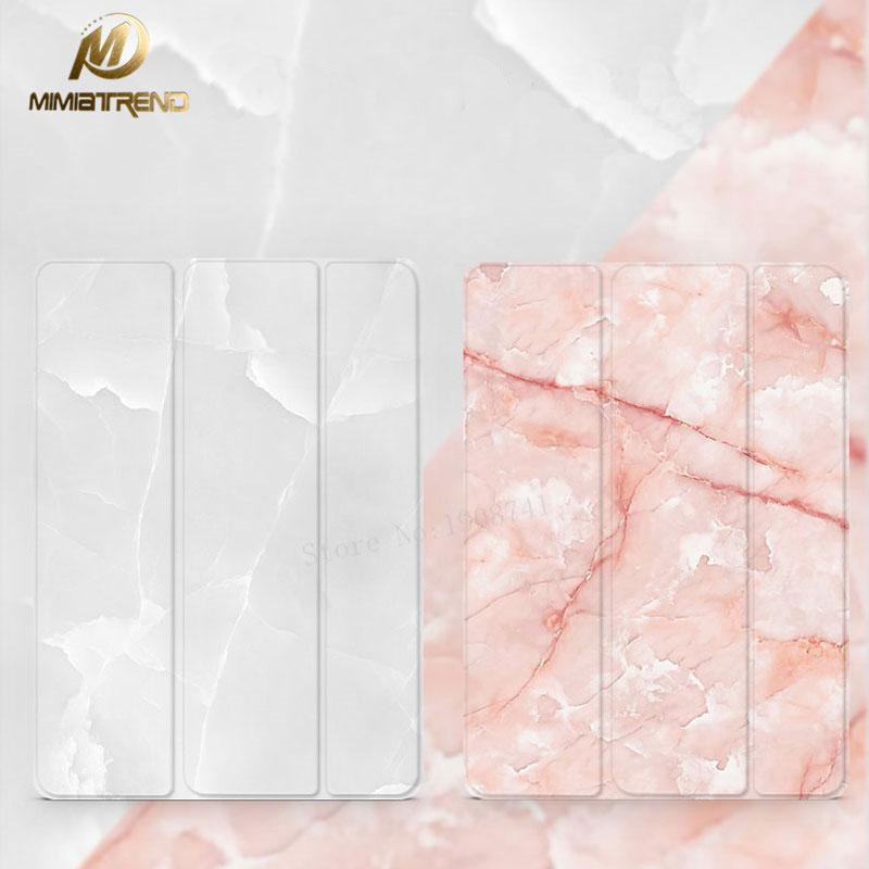 Mimiatrend Marble Grain Flip Smart Cover For ipad Pro 9.7 mini1/2/3 ipad 2 3 4 Air 1/2 Shell + Case for Iphone /Protective Film