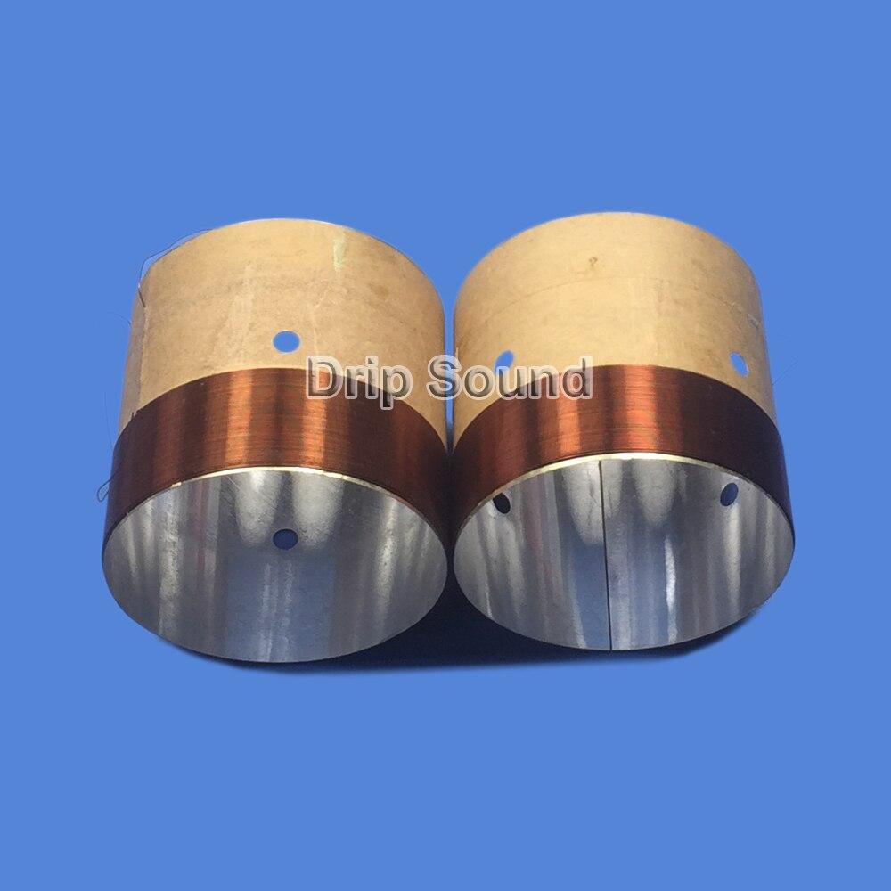 2pcs 62.8mm 62.8 Core 8ohm Bass Voice Coil ASV White Aluminium Woofer Sound Drive Speaker Repair Parts