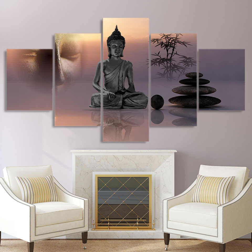 Canvas Painting Modern HD Printed Pictures 5 Panel Zen ...