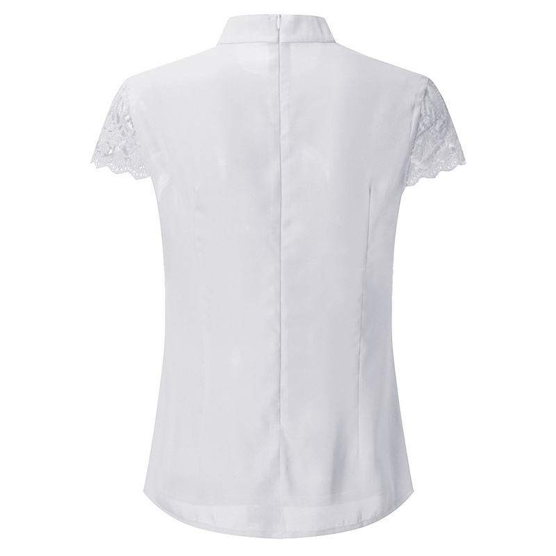 Casual Hollow Chiffon Short Sleeve Top 10