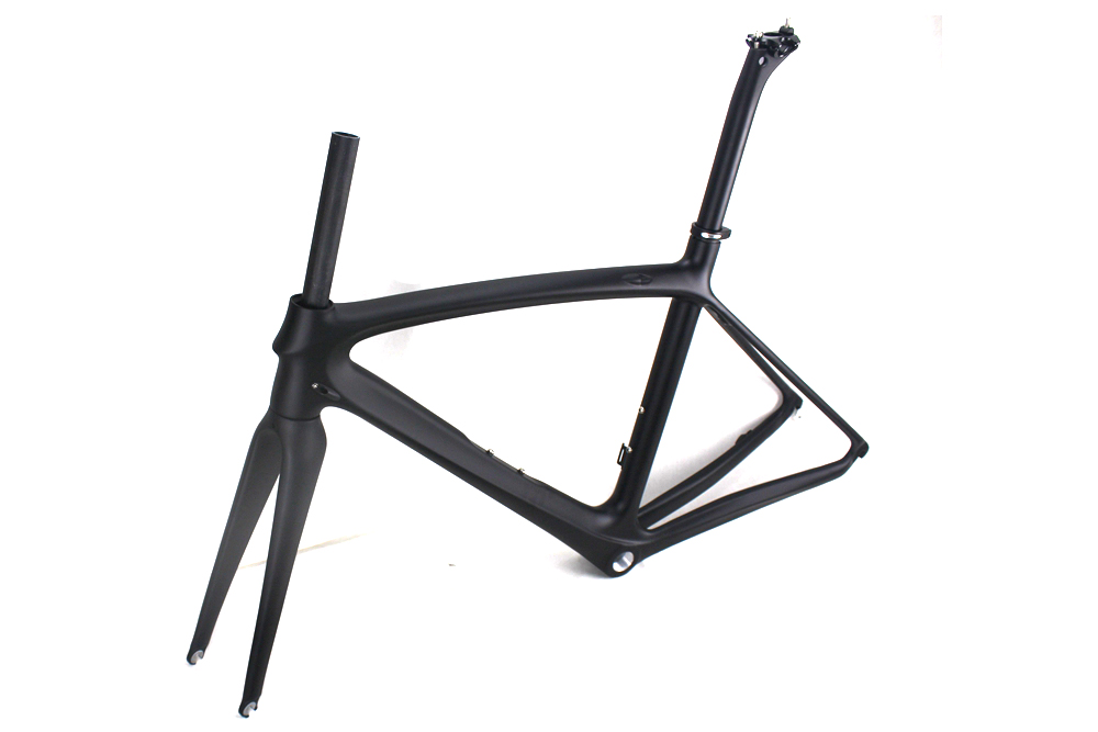2018 Carbon fiber road bike frames Black matt clear coat china racing carbon bicycle frame cycling frameset BSA BB68 2017 flat mount disc carbon road frames carbon frameset bb86 bsa frame thru axle front and rear dual purpose carbon frame