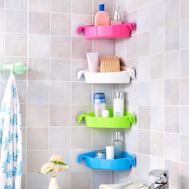 bathroom racks double suction cup toilet shelf kitchen bathroom storage sundries hanger holder portable accessories