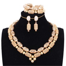 hot deal buy 4ujewelry gold african dubai jewelry sets for women in nigerian wedding sets 2 layers indian bridal jewelry sets free ship 2018