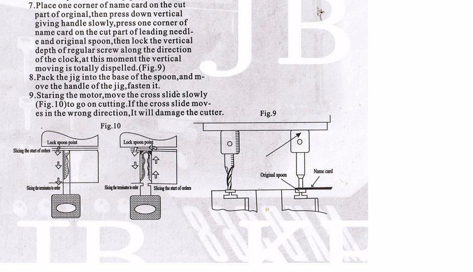 368A Key Cutting Duplicated Machine Instruction 5