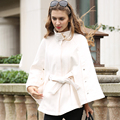 2016 New Winter Brand Fashion Cloak Jacket Plus Size Women Clothes Beige Long Sleeve Loose poncho Women's Warm Wool Cape Coats