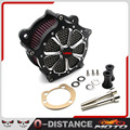 Negro Aluminio Sistema de Filtro de Aire de Admisión Filtro Aire Para Harley Sportster XL883/1200x48 2004-2015