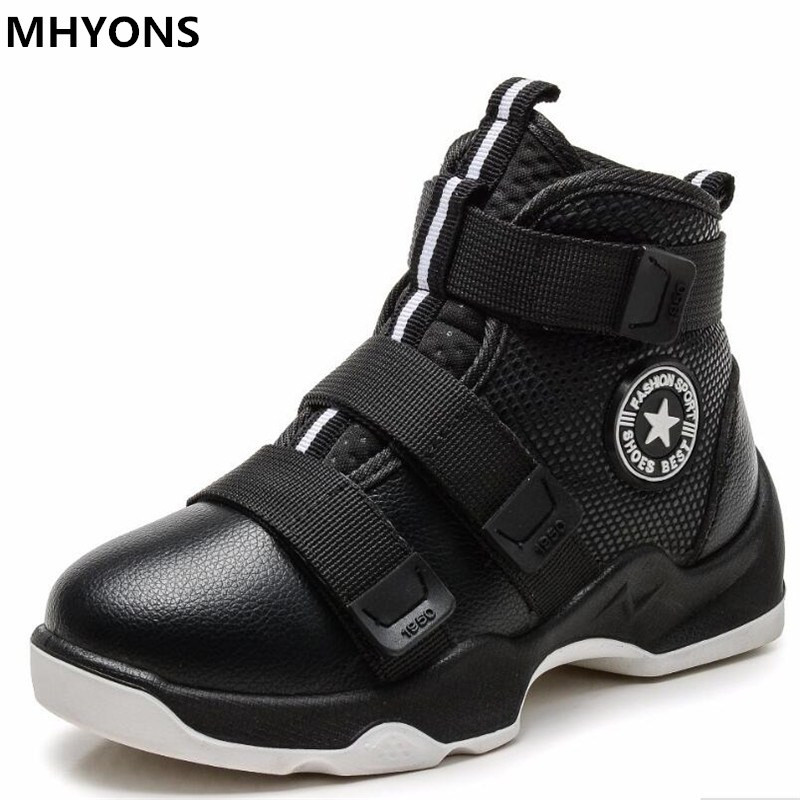 2019 New Winter Fashion Children Genuine Leather Boots Kids Boots Boys Running Shoes Flat With Plush Warmth Sports Sneakers
