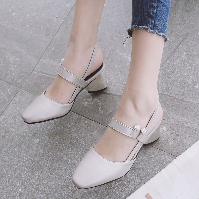 2017 Promotion Ladies Shoes Sapato Fashion  Feminino Big Size 32- 45 Sandals Ladies Retro Shoes High Heel Women Pumps 519 2017 real top cover heel open casual sapato feminino melissa genuine big size retro solid square heel shoes woman ladies womens