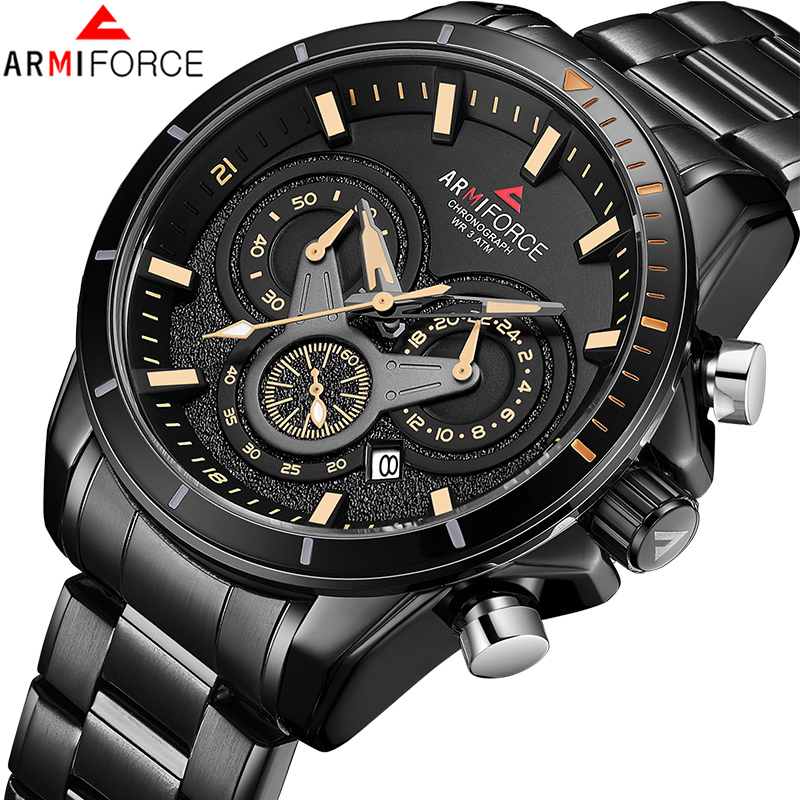 Luxury Brand ARMIFORCE New Men Military Sport Watch Men Waterproof Chronograph Quartz Wrist Watch Men fashion Date Analog Clock