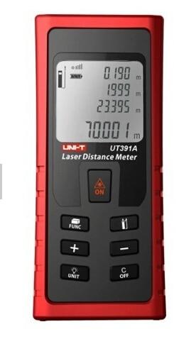 UNI-T UT391A Range Finder Infrared Range Finder Handheld Laser Distance Meter Measure 0.05m-70m(Laser Rangefinders) 0 05m 70m 230ft professional handheld laser range finder distance meter tester area volume pythagorean measure tecman tm70